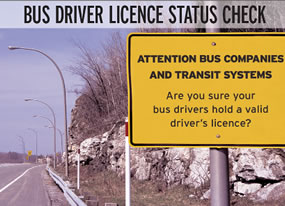 Driver Licence Status Check Brochure