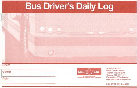 Vehicle Status Check >> Bus Driver's Daily Log Book