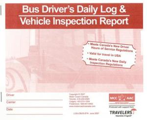 bus driver s daily log book daily vehicle inspection report